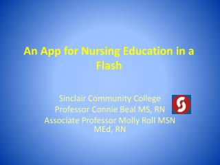 An App for Nursing Education in a Flash
