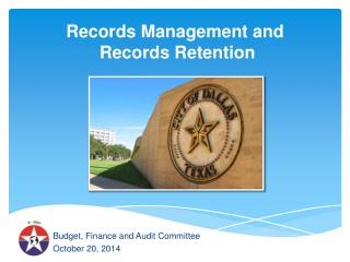 Records Management and Records Retention