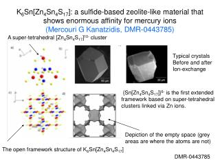 K 6 Sn[Zn 4 Sn 4 S 17 ]: a sulfide-based zeolite-like material that shows enormous affinity for mercury ions  (Mercouri