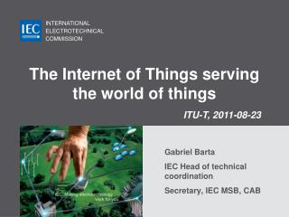 The Internet of Things serving the world of things