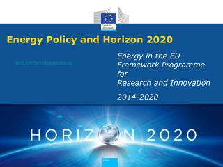 Energy Policy and Horizon 2020