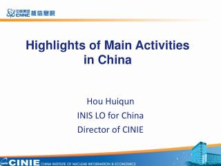Highlights of Main Activities  in China