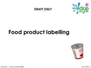 Food product labelling