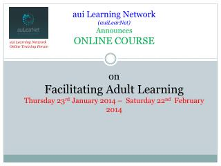 aui Learning  Network Online Training Forum