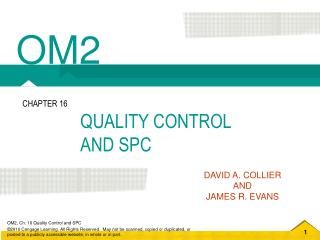 QUALITY CONTROL  AND SPC