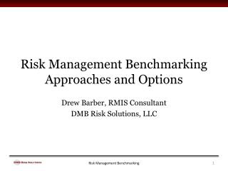 Risk Management Benchmarking Approaches and Options
