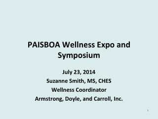 PAISBOA Wellness Expo and Symposium
