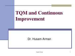 TQM and Continuous Improvement