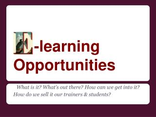 -learning Opportunities