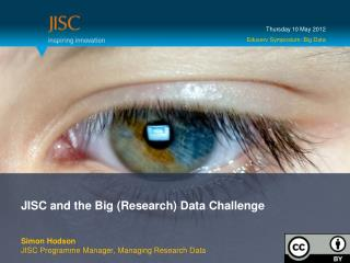 JISC and the Big (Research) Data Challenge