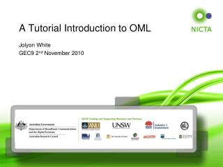 A Tutorial Introduction to OML