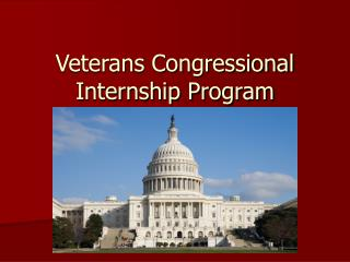 Veterans Congressional Internship Program