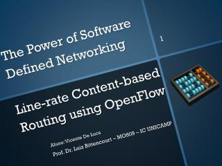The Power of Software  Defined Networking Line-rate Content-based Routing using  OpenFlow