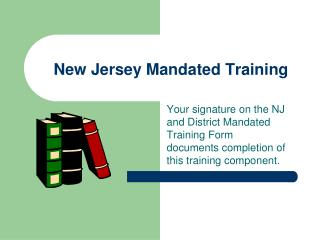 New Jersey Mandated Training