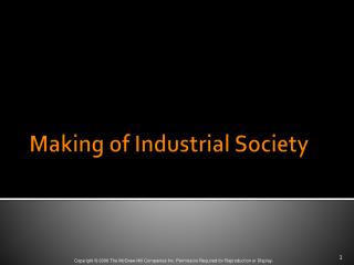 Making of Industrial Society