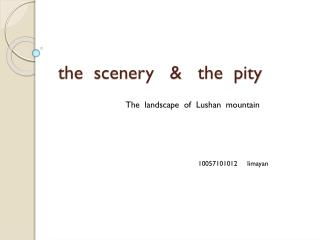 the  scenery   &   the  pity