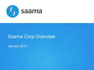 Saama  Corp Overview