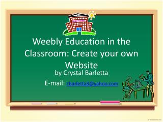 Weebly Education in the Classroom: Create your own Website