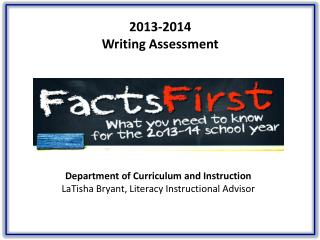 2013-2014  Writing Assessment