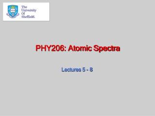 PHY206: Atomic Spectra