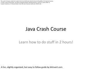 Java Crash Course