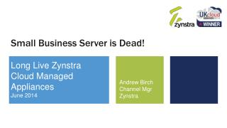 Small Business Server is Dead!