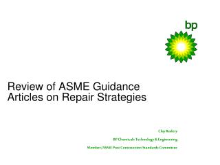 Review of ASME Guidance Articles on Repair Strategies