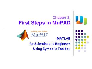 Chapter 2: First Steps in MuPAD