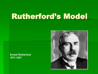 Rutherford's Model