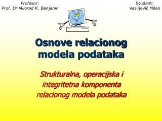 Osnove relacionog modela podataka
