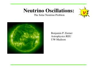 Neutrino Oscillations: