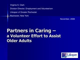 Partners in Caring – a Volunteer Effort to Assist Older Adults