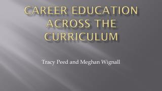 Career Education Across the Curriculum
