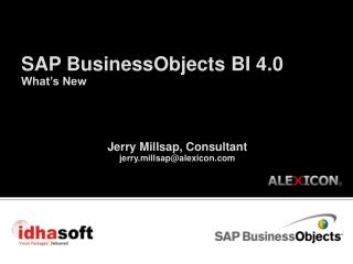 SAP BusinessObjects BI 4.0 What's New