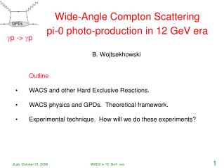 Wide - Angle Compton Scattering pi-0 photo-production in  12 GeV  era