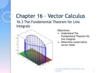 Chapter 16 – Vector Calculus