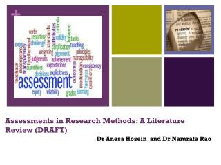 Assessments in Research Methods: A  Literature Review (DRAFT)
