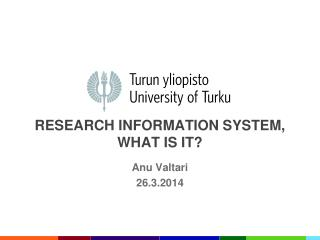 Research information system, what is it?