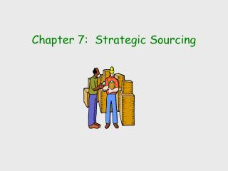 Chapter 7:  Strategic Sourcing