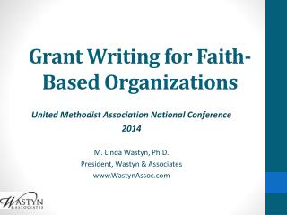 Grant Writing for Faith-Based Organizations