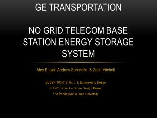 ge  transportation no grid telecom base station energy storage system