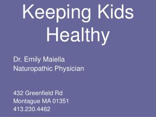 Keeping Kids Healthy