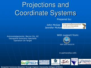 Projections and Coordinate Systems