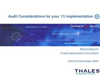 Audit Considerations for your 11i implementation