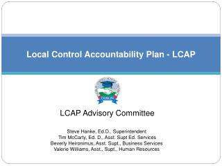 Local Control Accountability Plan - LCAP