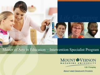 Master of Arts in Education  – Intervention Specialist Program