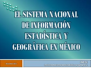 INEGI  Instituto Nacional de Estadística y Geografía