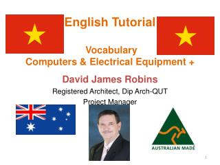 English Tutorial  Vocabulary  Computers & Electrical Equipment +
