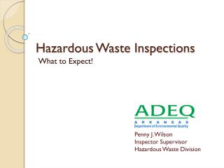 Hazardous Waste Inspections