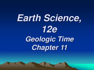 Earth Science, 12e